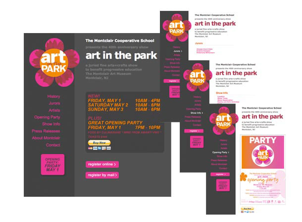Art in the Park Site Programming