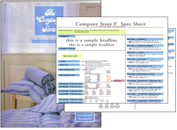 Spec Sheet for Catalog Production