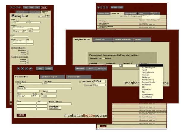 Internal Pages of Database Design for MTS Mailsource