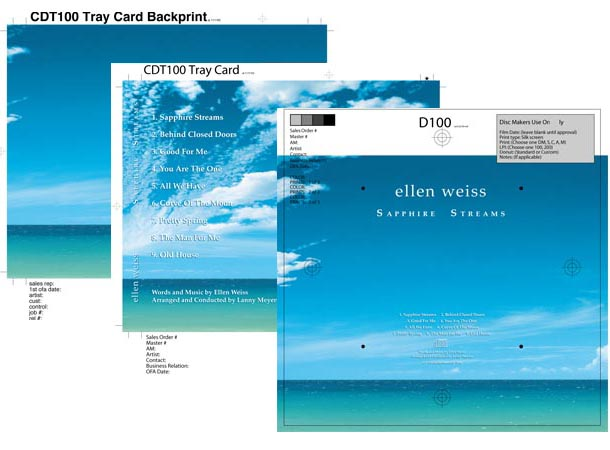 Internal Elements of CD package Design w/Original Photography
