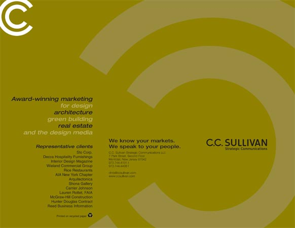 Brochure for Strategic Marketing Firm